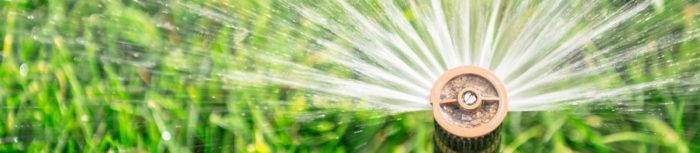 spray head irrigating turf can be water efficient if utilizing cycle and soak
